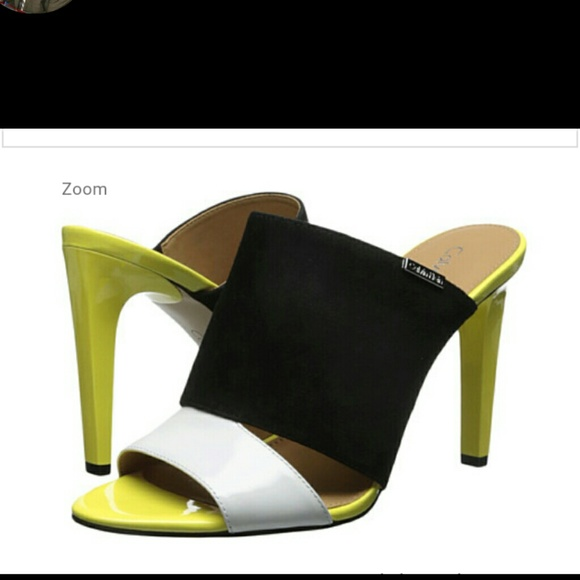 c9e39cc4838d NWOB Calvin Klein Heeled Mule Sandals 9.5